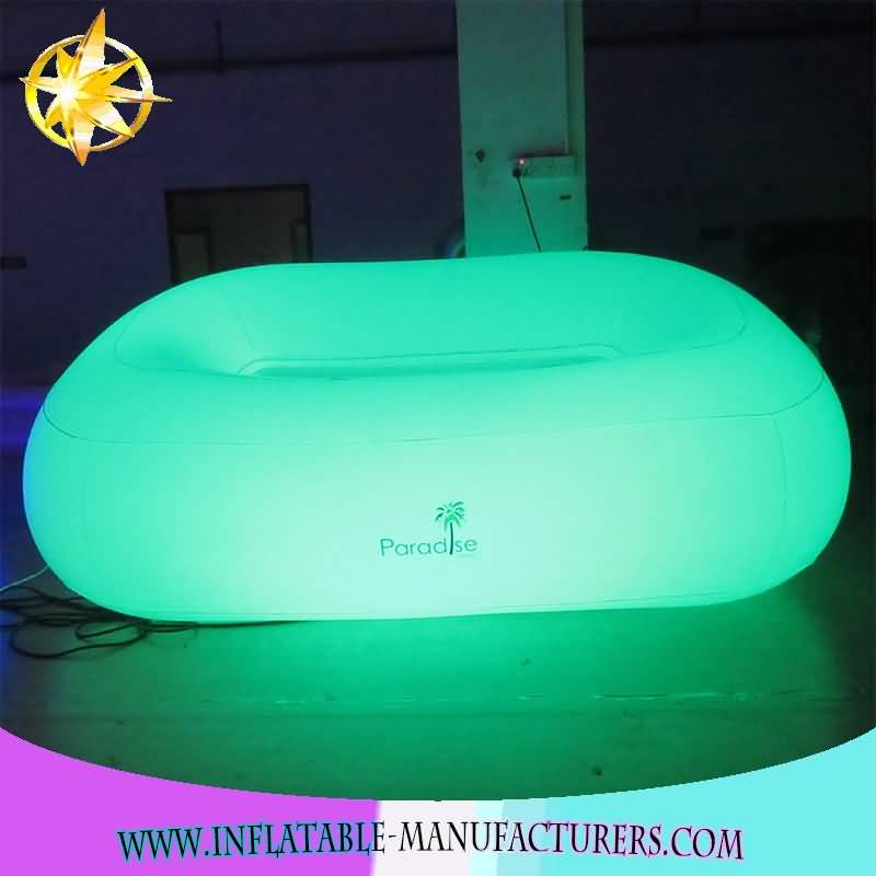 hot sale advertising LED chair /inflatable LED chair /promotion ubfkatable LED sofa