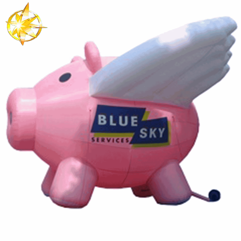 inflatable flying pig