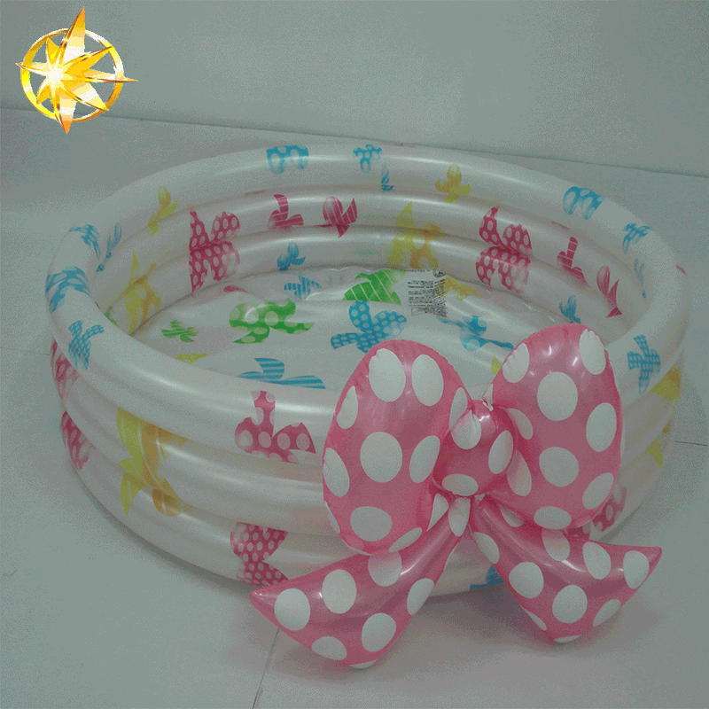 Factory price 3-ring Round Portable Inflatable Baby Swimming Pool