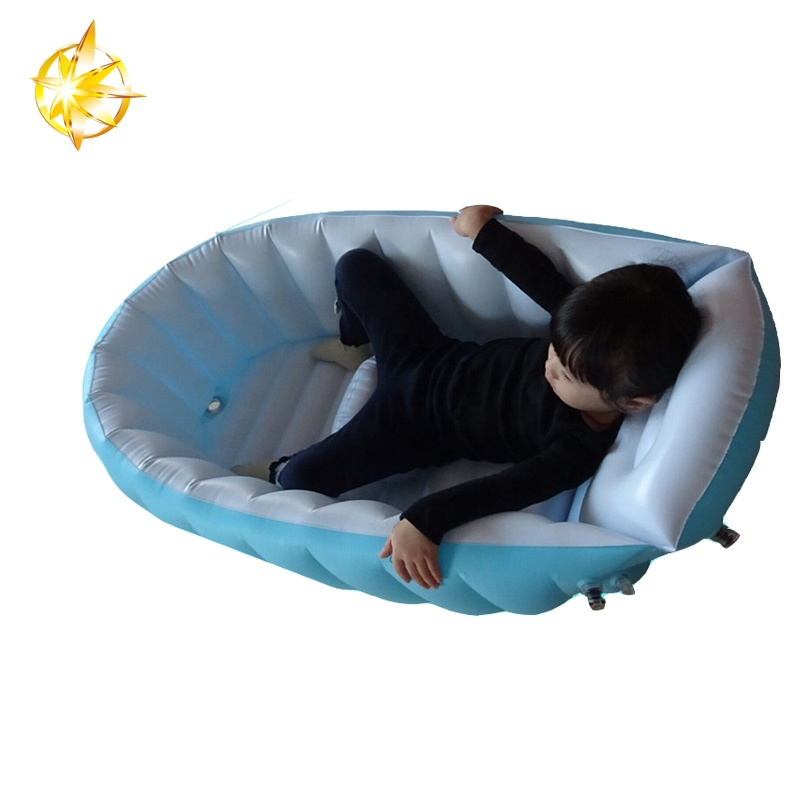 Ergonomic and Eco pvc  inflatable baby bathtub