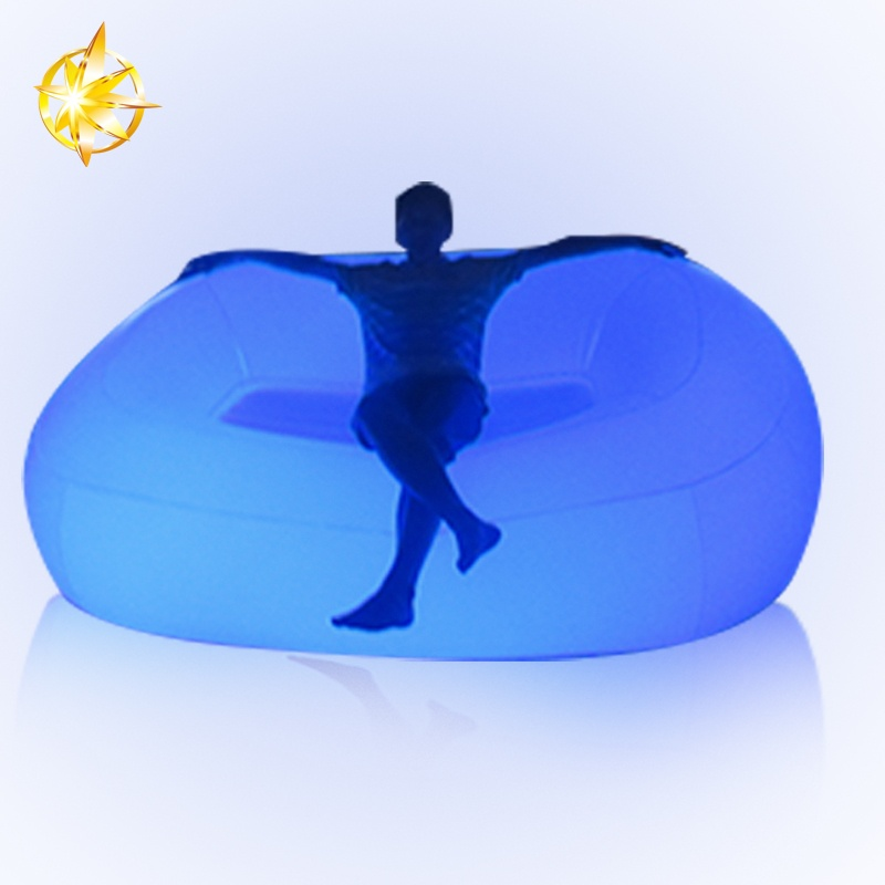 High Quality Cheap led light Inflatable sofa for nightclub furniture