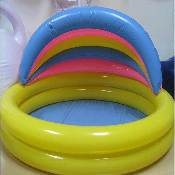 best sale Inflatable pvc baby swimming pool w rainbow sunshade, Inflatable baby SPA pool