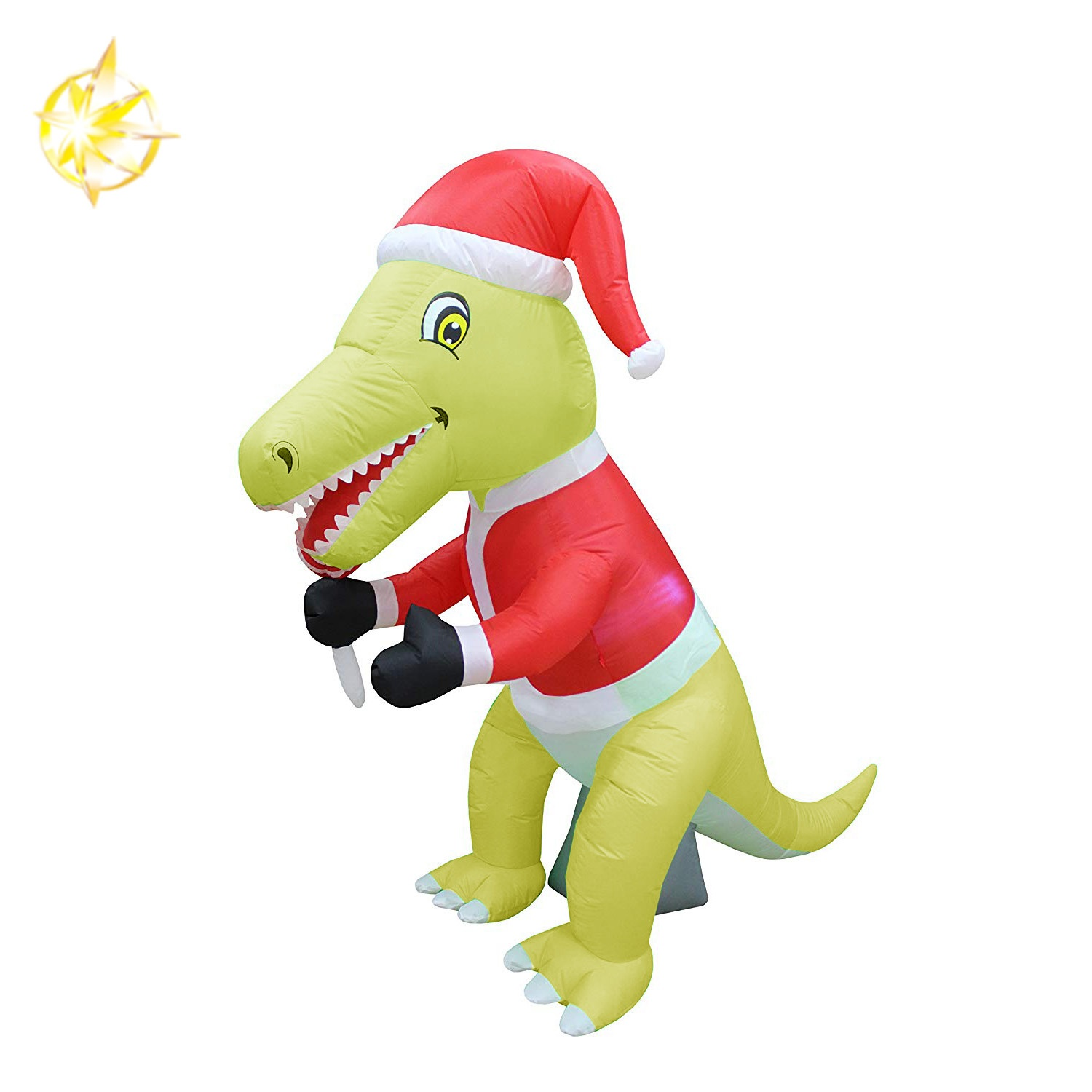 6 foot Christmas inflatable yellow dinosaur LED light decor outdoor indoor decoration