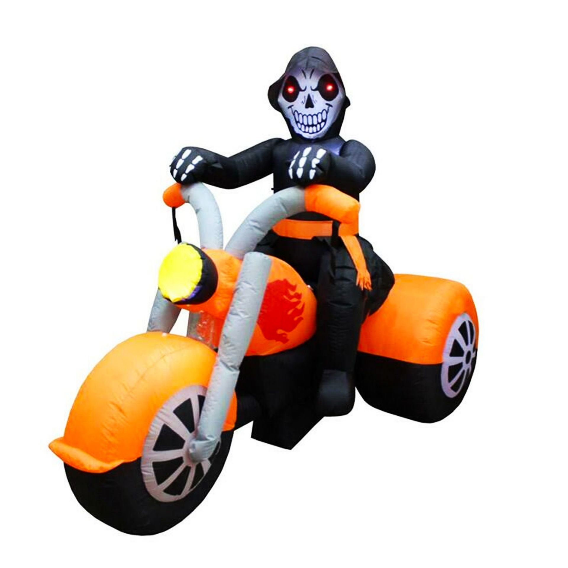 Halloween inflatable skeleton ghost riding motorcycle outdoor patio inflatable motorcycle decoration