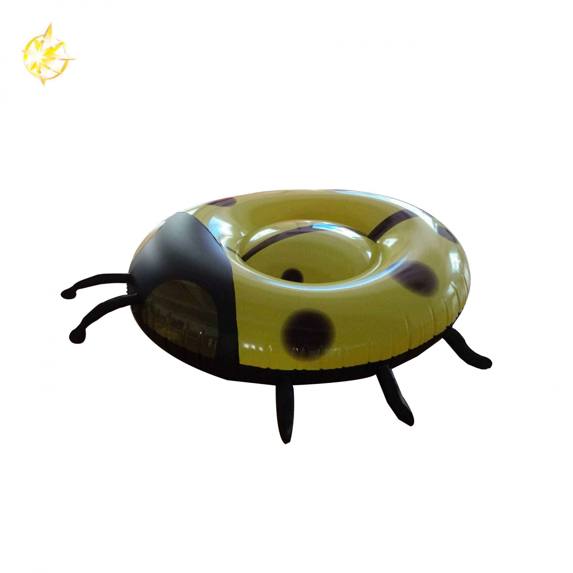 Giant Inflatable Yellow Ladybug-Type Pool Float Swimming Air Mat Water Party Toys For Adult/Kid Fun