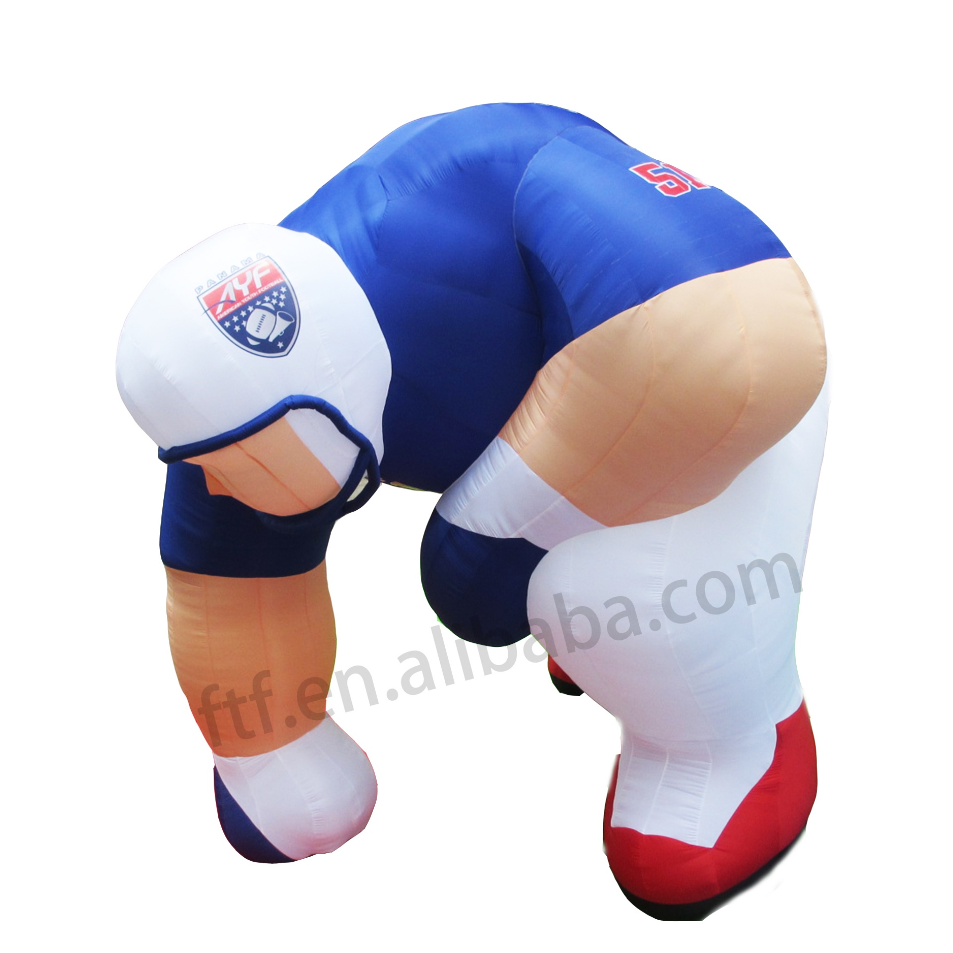 Customized giant inflatable football player outdoor advertising model