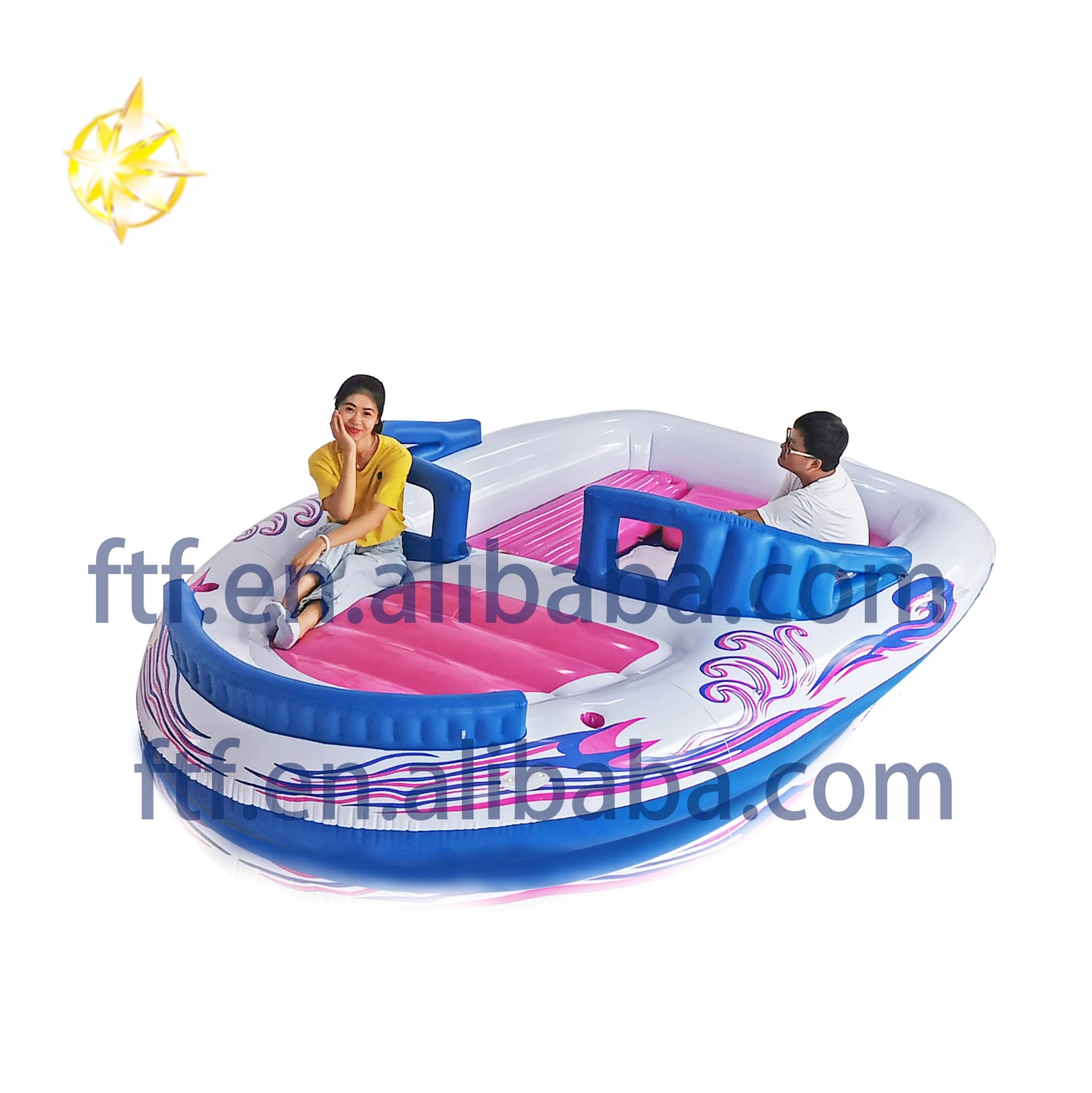 PVC Inflatable Boat 6 Person inflatable island boat inflatable party island boat