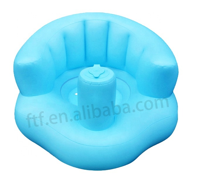 Multi-function custom folding inflatable dining chair inflatable baby bath chair