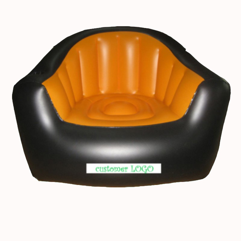 Customized inflatable single people sofa classic style PVC inflatable sofa can be customized logo in