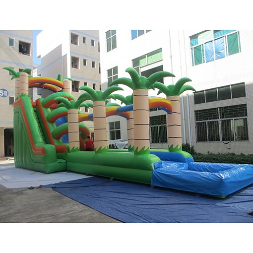 inflatable Palm tree slides Beach Slide