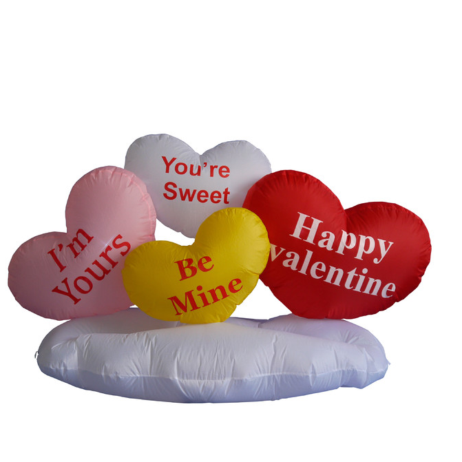 Valentine's day outdoor inflatable heart ads inflatable decorations