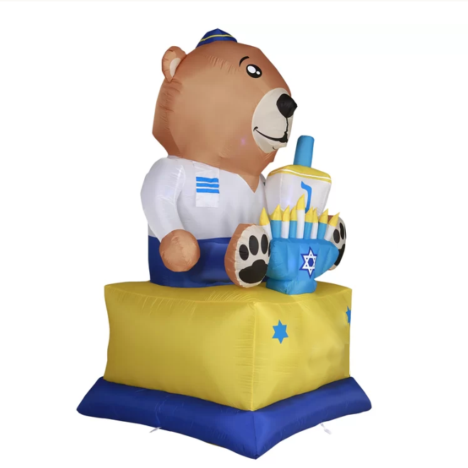Festival type inflatable LED lamp inflatable bear garden