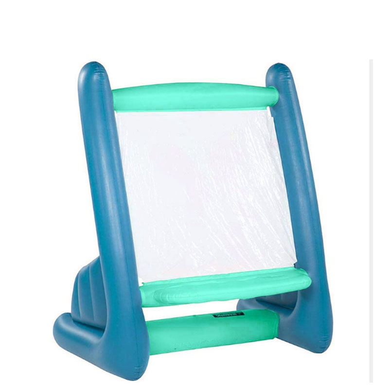 Courtyard portable PVC inflatable easel with paint
