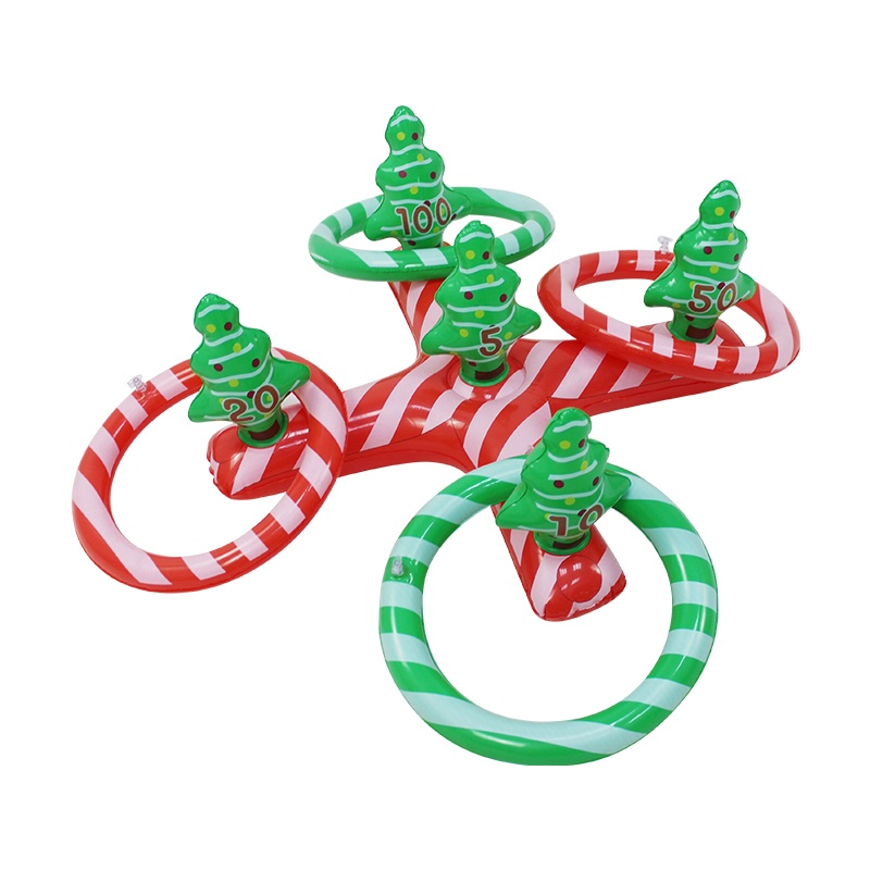 Custom indoor/outdoor Christmas tree inflatable toss ring game